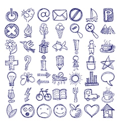 49 hand draw web doodle icon design elements vector