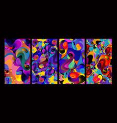 Abstract liquid shape fluid design isolated vector