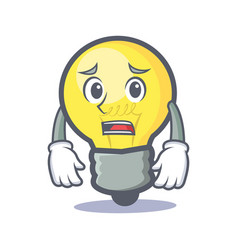 Afraid light bulb character cartoon vector