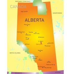 Alberta province vector image