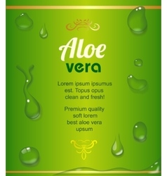 Aloe Vera juice drops elements on green fresh vector image