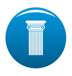 Architectural column icon blue vector