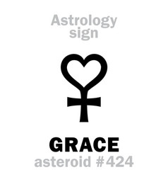Astrology asteroid grace vector
