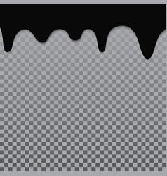 black chocolate melt liquid splash border vector image