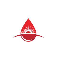 blood drop donor icon vector image