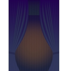 Blue Curtain Theatre reopening vector image