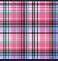 blue pink abctract check plaid seamless pattern vector image