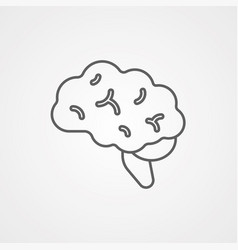 brain icon sign symbol vector image