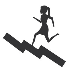 Businesswoman in statistic avatar character vector