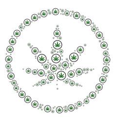 cannabis icon composition vector image