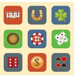 Casino Design Icons vector image