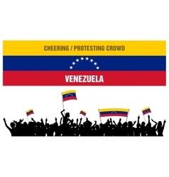 Cheering or Protesting Crowd Venezuela vector