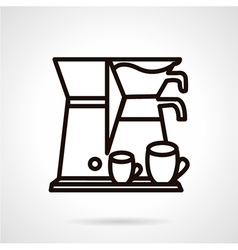 Coffee making appliance line icon vector