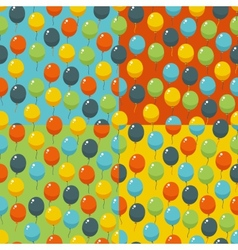 Colored party balloons pattern birthday wedding vector