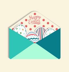 Colorful paper mail envelope with a easter egg vector