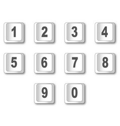 Computer key numbers vector