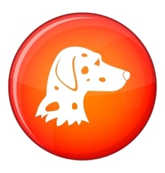 Dalmatians dog icon flat style vector