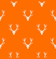 Deer antler pattern seamless vector