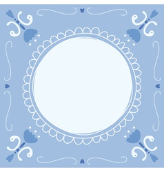 Delft Blue empty vector
