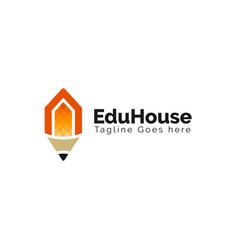 education house logo design inspiration vector image