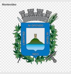 Emblem of montevideo city of uruguay vector
