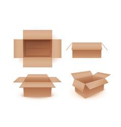 empty cardboard crates vector image