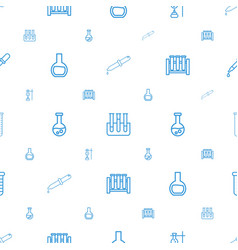 Experiment icons pattern seamless white background vector