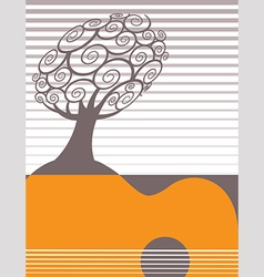 Festive music poster template vector
