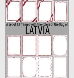Flag v12 latvia vector