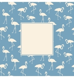 Flamingo background design vector
