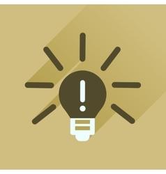 Flat icon with long shadow light bulb idea vector