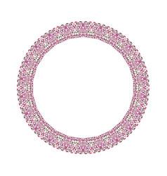 Geometrical floral frame - abstract circular vector