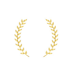 Gold laurel or olive branch element greek vector