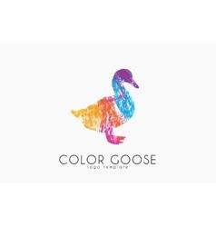 Goose logo Color goose Bird logo design vector