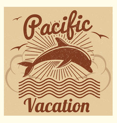 grunge vintage summer travel vacation vector image