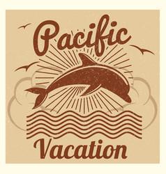 Grunge vintage summer travel vacation vector