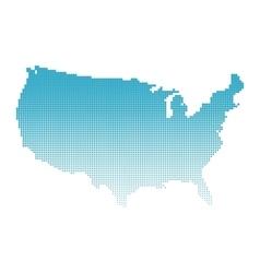 Halftone map of USA vector image
