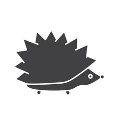 Hedgehog glyph icon vector