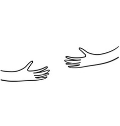 Human hands holding or embracing something with vector