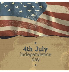 Independence day vintage poster design vector