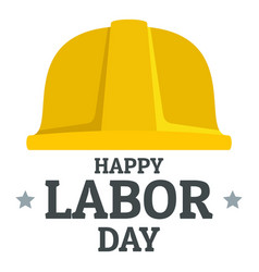labor day yellow helmet logo icon flat style vector image