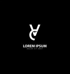 Letter v logo v design with white colors vector