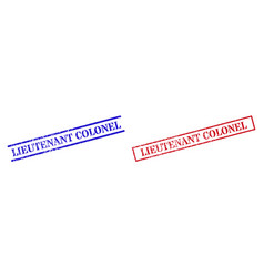 Lieutenant colonel grunge scratched seal stamps vector