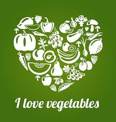 LoveVeg vector image