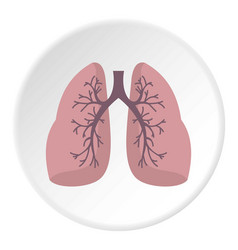 Lungs icon circle vector