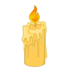 Melting candle icon cartoon style vector image
