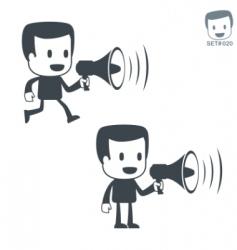 men icons vector image