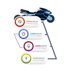 modern motorcycle over template infographics vector image