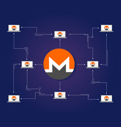 Monero bitcoin background style collection vector