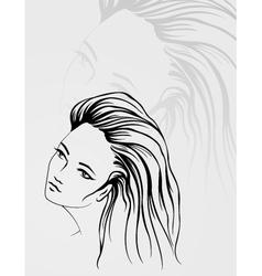 outline portrait vector image